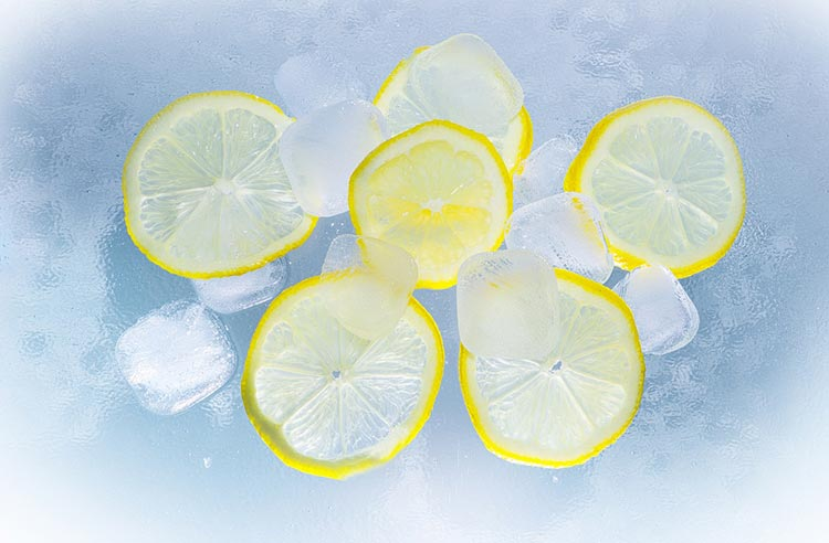 лимон и лед