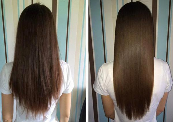 Ламинирование волос желатином. Фото до и после