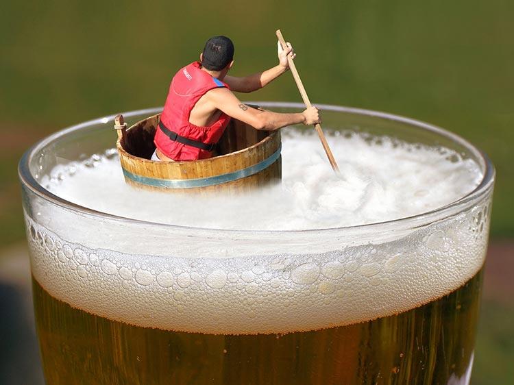 пиво и пена